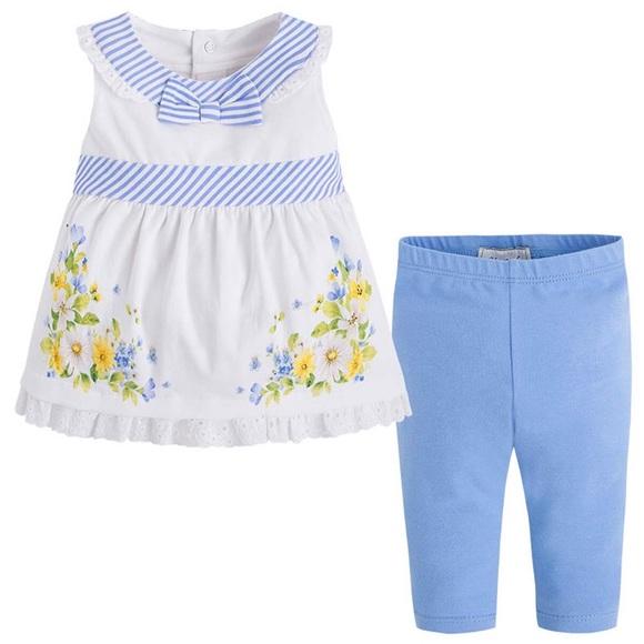 c5ac95fa515d3 Mayoral Matching Sets | Baby Girl 3m24m Bluewhite Legging Set | Poshmark